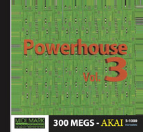 Akai s-1000 1 /& 2  CD ROMs mpc-4000 Power House Vol